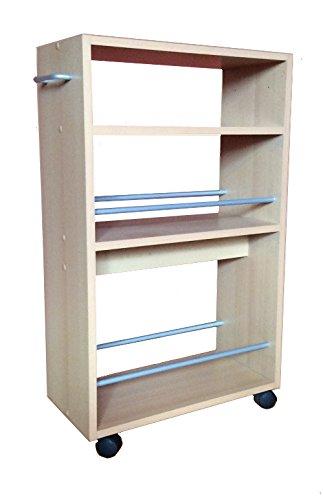 Küchenwagen Nischenwagen Küchenregal Weiß Buche Küchenregal auf ...