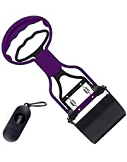 Adfejgn Portable Mini Dog Pooper Scooper, Handle Cleaning Pickup Clip Poop Scoop for Dog and Cat Animal Waste, Purple