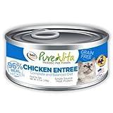 PureVita Grain Free Chicken & Chicken Liver Canned Cat Food 12/5.5oz For Sale
