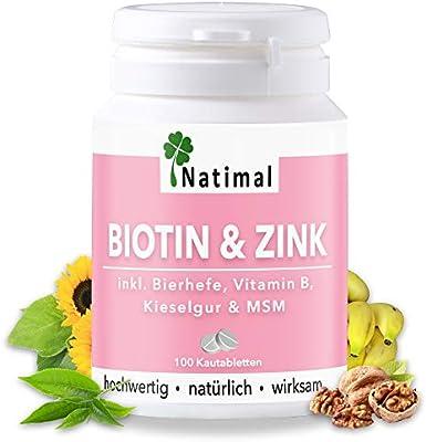 Biotina y Zinc para Doblar la Piel, la Piel y Las Garras para Perros. con MSM y Vitamina B12. Paquete de Almacenamiento para al Menos 3 Meses.