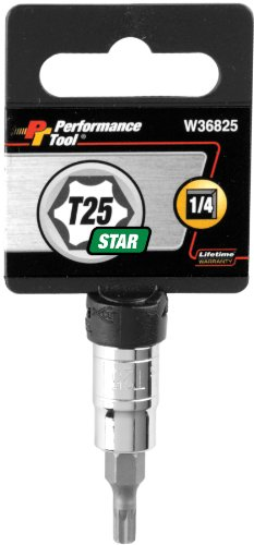 - Performance Tool W36825 T25 Star Bit Socket, 1/4