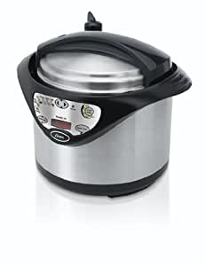 Oster FPSTPC4801 5-Quart Electric Pressure Cooker, Brushed Stainless Steel