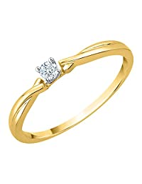 Diamond Promise Ring in 10K Gold (1/10 cttw) (I-Color, SI3-I1 Clarity)