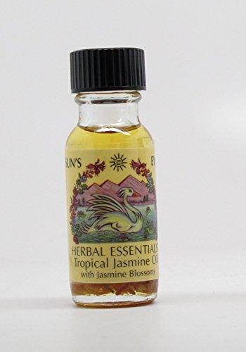 Tropical Jasmine - Sun's Eye Herbal Essential Oils - 1/2 Ounce Bottle (Oil Aromatic Tropical Spice)