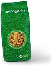 Mundo Feliz - Mango ecológico deshidratado en tiras, 3 bolsas de 200g