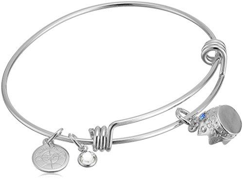 Halos & Glories Crown Charm Bangle Bracelet