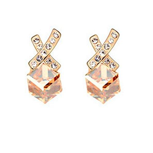 MosierBizne Crystal Letters Cube Earrings(1)