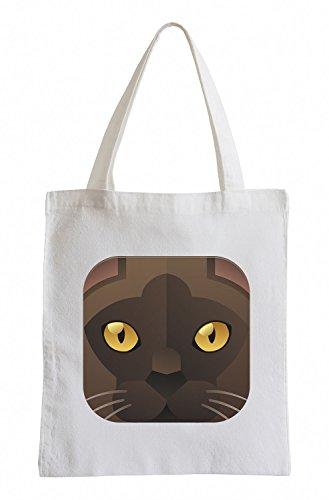 Raxxpurl Icon Cat marrone Fun sacchetto di iuta