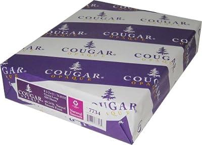 "Cougar Opaque White Smooth 70# 8.5""x11"" 500 Sheets"