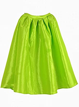 ad2bde9c4a Women s Bright Neon Green Midi Skater Skirt  Amazon.co.uk  Clothing