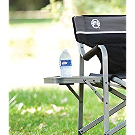 Coleman Camping Chair with Side Table | Aluminum Outdoor Chair with Flip Up Table
