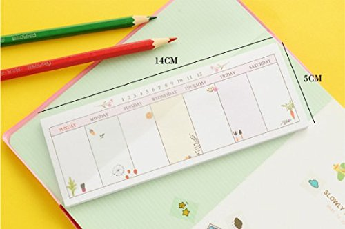 Sticky Notes BookMark Pads Set of 6 Colorful - 5