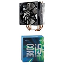 Cooler Master Hyper 212 EVO - CPU Cooler with 120mm PWM Fan+ Intel Boxed Core I5-6600K 3.50 GHz, 6 M Processor Cache 6 for LGA 1151
