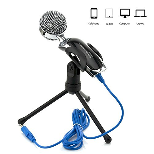 Jeystar SF-922 Microphone Mic Stand Type 3.5mm Jack for PC Computer Audio Mic Chat Skype Calls by Jeystar