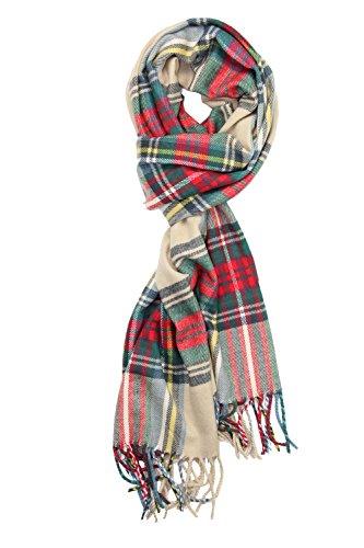 Achillea Soft & Warm Tartan Plaid Checked Cashmere Feel Winter Scarf Unisex (Stewart Dress) ()