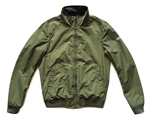 Reversibile Camouflage Giubbino E Woolrich blu s Shore Jacket Reversible Camou blu Estivo Wocps2286 Impermeabile qZz1f