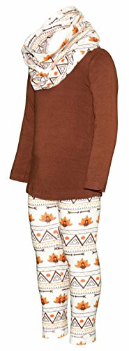 Unique Baby Girls 3 Piece Thanksgiving Tribal Turkey Legging Set (5) by Unique Baby (Image #2)