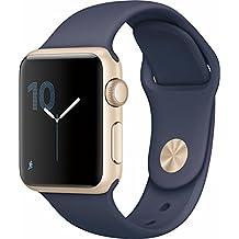apple MQ132LL/A Watch Series 2 38mm Smartwatch, Gold Aluminum Case, Midnight Blue Sport Band