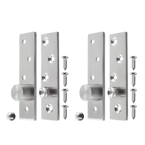 BNYZWOT 2 Sets Stainless Steel 360 Rotation Hidden Door Pivot Hinges 100x25x4mm