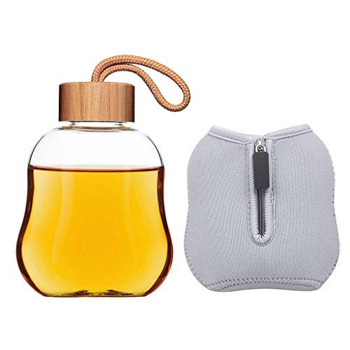 Life4u Borosilicate Glass Bottle Bamboo product image