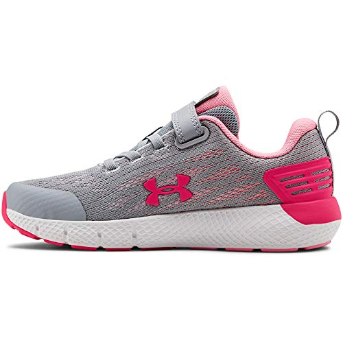 Under Armour Girls' Pre School Rogue Alternate Closure Sneaker, Mod Gray (102)/White, 12.5 (Best Marathons To Run)