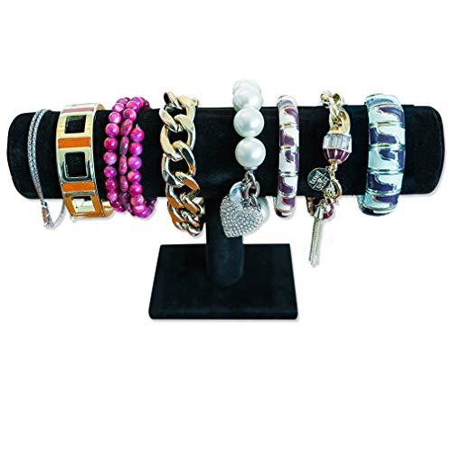 Evelots T-Bar Bracelet/Necklace/Watches/Jewelry Display-Organizer-Black Velvet
