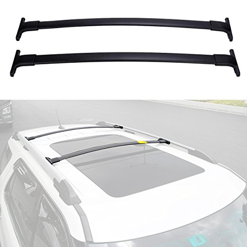 Ford Roof Rails (ALAVENTE Roof Rack CrossBars Compatible for Ford Explorer 2016 2017 2018 with Factory roof Side Rails)