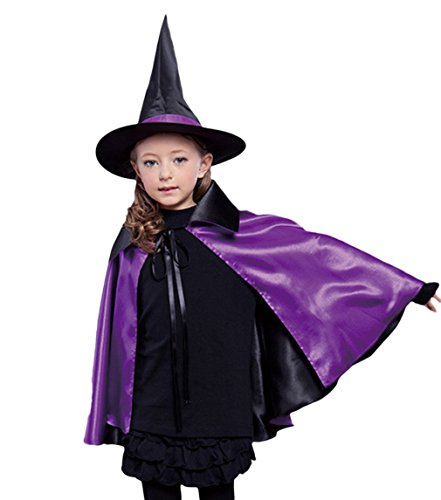 Children Cloak Halloween Costumes Hat Ghost Cape Cosplay Role Play Dress Up (Small, (Halloween Costumes Spirt)