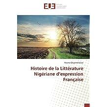 Histoire de la Littérature Nigériane d'expression Française
