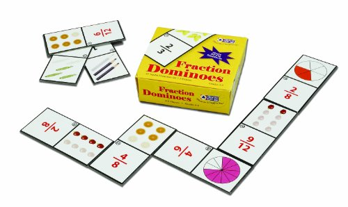 Learning Fractions Card Game - Learning Advantage 7852 Fraction Dominoes Card