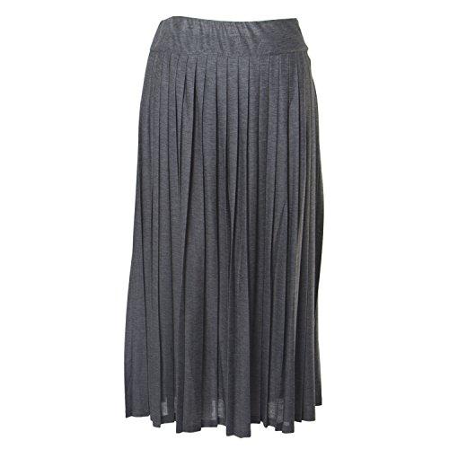 Marina Rinaldi Women's Occulto Accordion Skirt, Grey, Large by Marina Rinaldi by Max Mara