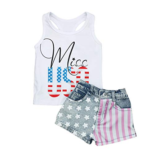Kehen- Kid Toddler Girl Summer Clothes 4th of
