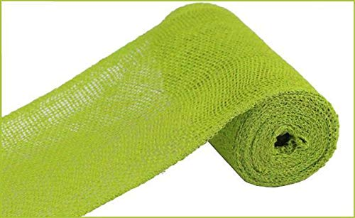 Apple Burlap Ribbon - Loose Weave Burlap, 10 Yards (Apple Green, 6