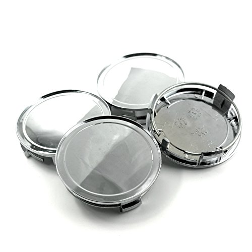 (75mm Chrome Silver Car Wheel Center Hub Caps Base Set of 4)