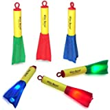 6 Pack LED Light Flashing Rockets Toy for Boys Girls Children Kids Adults Family Fun Shooting Games for Home Office Parties