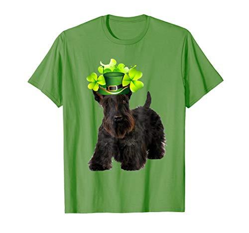 ST Patricks Day Scottish Terrier Dad Mom Dog Irish T-Shirt
