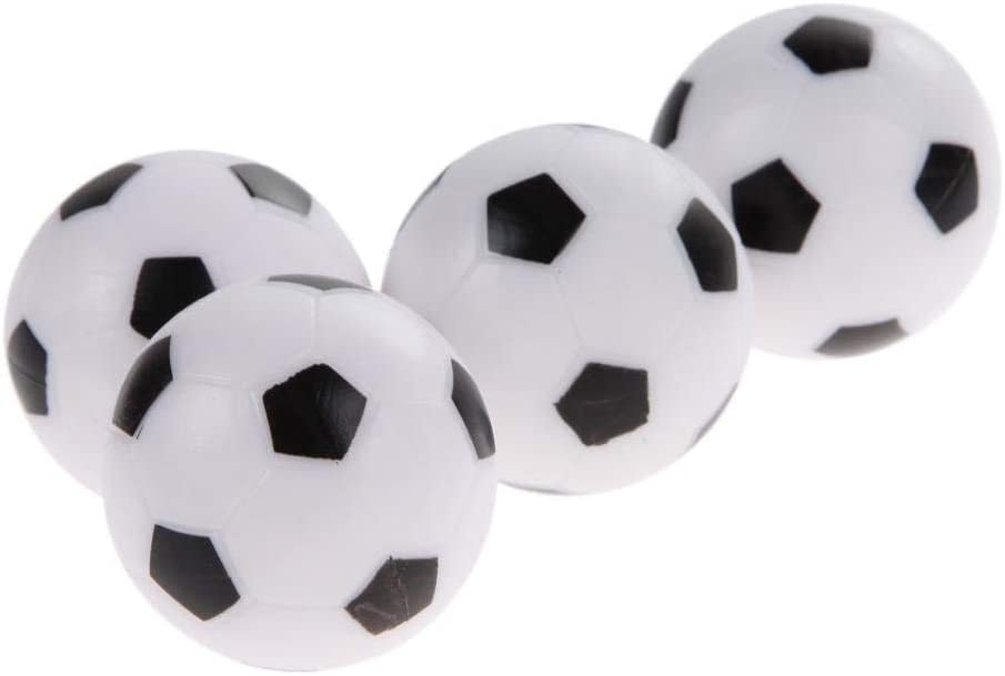 Ogquaton 4 Pcs 36mm Plastic Soccer Table Football Balls Game Replacement Ball Very Practical and Popular