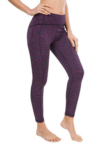 d118dbab4d Galleon - Queenie Ke Women Yoga Leggings Nine Pants Power Flex High Waist  Gym Running Tights Size XL Color Purple Space Dye