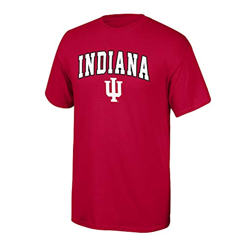 Elite Fan Shop NCAA Men's Indiana Hoosiers T Shirt Team Color Arch Indiana Hoosiers Red Large