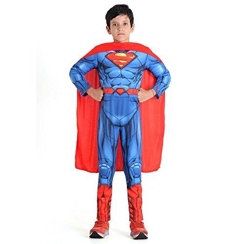 Super Homem Dc Premium Infantil Sulamericana Fantasias Azul/Vermelho G