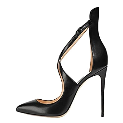 fa164031993 VOCOSI Women s Pointed toe Cross Strap Sexy Cut outs High Heels Pumps For Party  Dress 4.7 inch