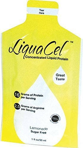 LiquaCel Liquid Protein 1oz Packets (100) Lemonade by Global Health Products