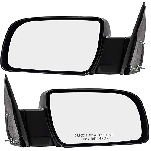 Pair Set Manual Side View Mirrors w/Metal Bases Replacement for 88-00 C/K Pickup Truck 15764759 15764760