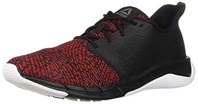 Reebok Men's Print Run 3.0 Shoe,Black/Primal red/White,7 M US