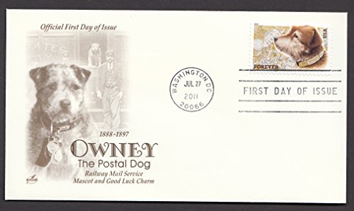 Owney the Postal Dog Collectible ArtCraft First Day Cover Stamp Cachet FDC 4547 -