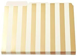 Kate Spade Gold Stripe File Folders pack of 6