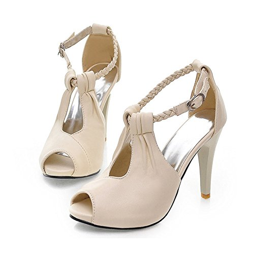 Ladies Womens High Stiletto Heels Pointy Pumps Work Smart Party Court Shoes Size Beige