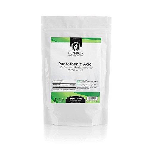 PureBulk Pantothenic Acid (Vitamin B5) Container:Bag Size:250g Powder