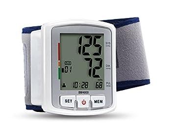 Health & Wellness BW4000 - Tensiómetro (Muñeca, Automático, Blanco, 2 usuario(