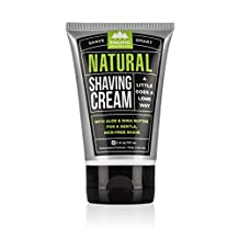 Shave Cream Nat 3 Oz by Pacific Shaving Co (1 Each) (6-Pack) by PACIFIC SHAVING CO